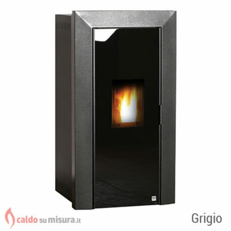 termostufa a pellet tft specchio silver black