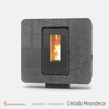 thermorossi slimquadro 9 cristallo moondecor stufa a pellet