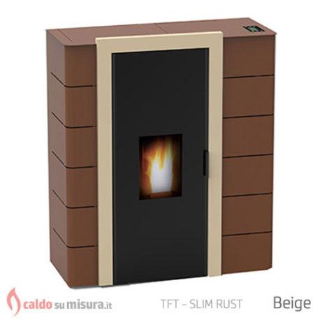 TFT slim rust stufa biomassa idro