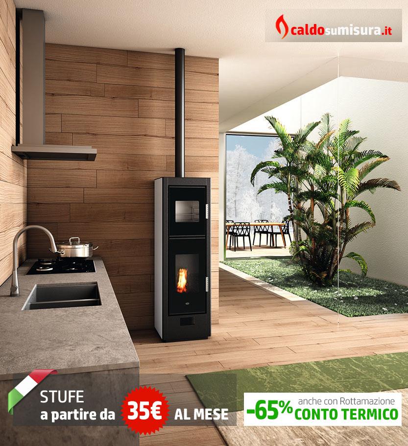 termostufe a pellet con forno
