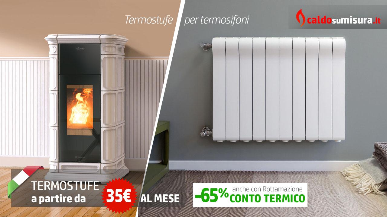 termostufe a pellet per termosifoni