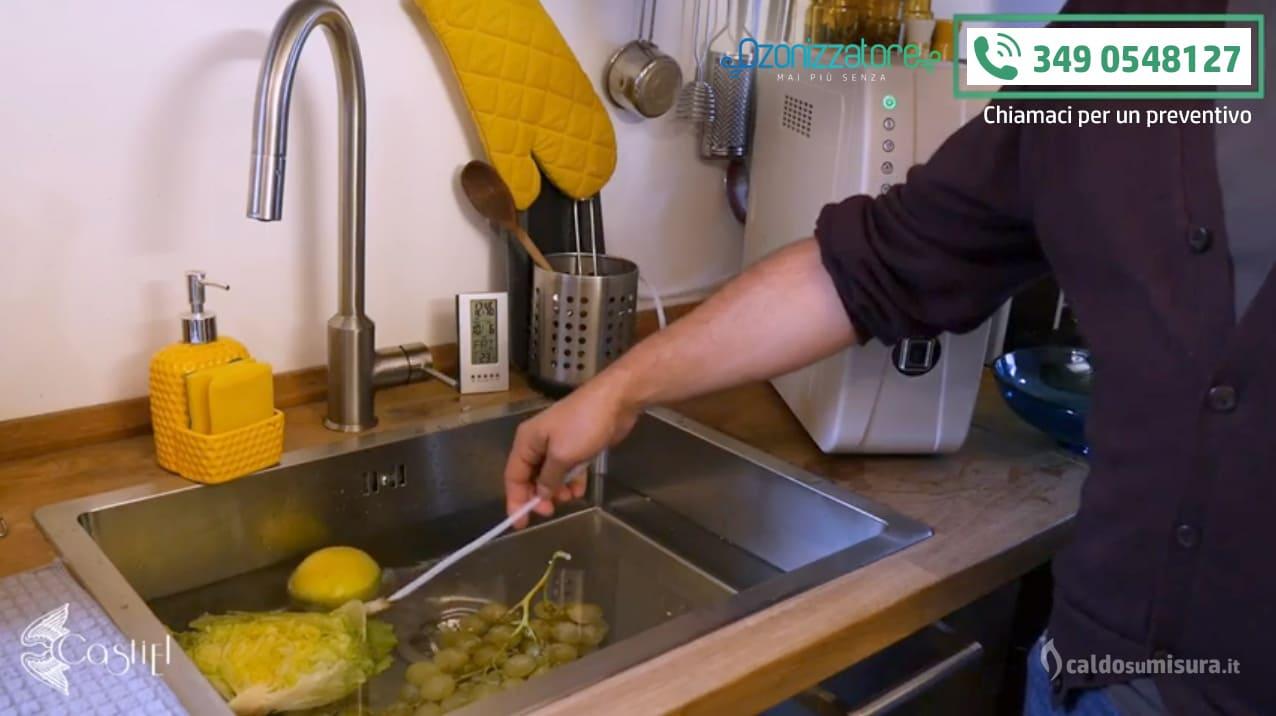 dispositivo ad ozono ozonizzazione frutta e verdura